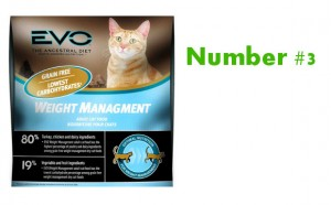 Evo Weight Management number 3 best cat food
