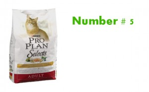 Purina Pro Plan Natural Chicken & Brown Rice Dry Formula rank 5 best cat food