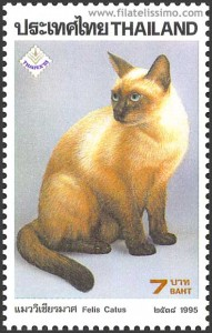 Thai Cat postage stamp of Thailand